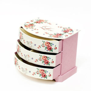 JB16004 Pink Multiple Drawers Jewelry Box
