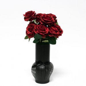 W6619 Black Paper Flower Vase
