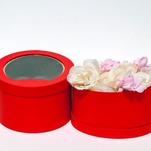 W9404red Red Oval Flower Box Set of 2
