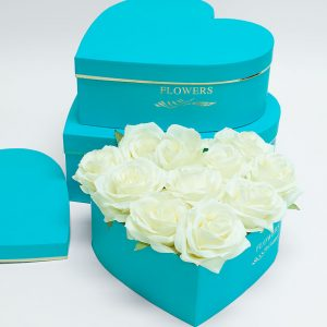 W9647TB Tiffany Blue Heart Shape Flower Box