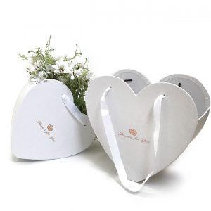 W9680 White Heart Shape Hanger Flower Box Set of 2