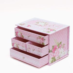 RW042-z44 Pink Multiple Drawer Jewelry Box