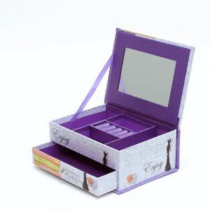 8 Pcs of JB16002 Portable Jewelry Box With Mirror Gift For Moms Clearance Sale