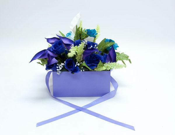 Purple Square Shape Flower Boxes