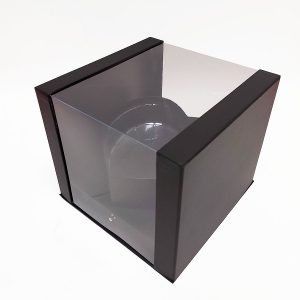 W7352 Black Clear Square PVC Flower Box With Heart Shape in the Middle
