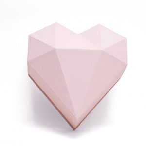 1121Apnk Pink Diamond Heart Flower Box