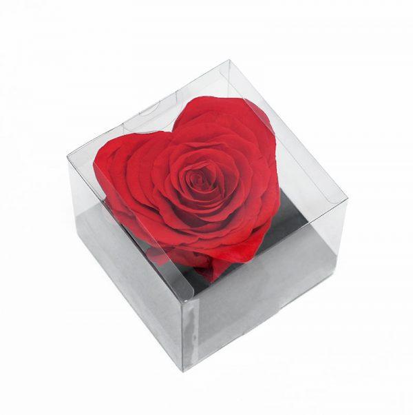 Large Red Eternity Heart Shape Rose