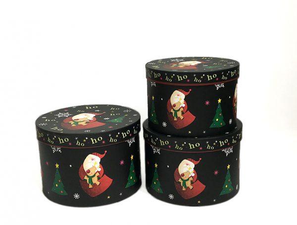 Black Christmas Flower Boxes