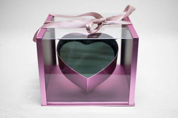 Rose Gold Acrylic Square Flower box
