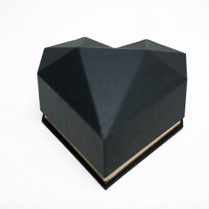 1121ABlk Black Diamond Heart Flower Box