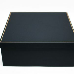 Big Black Square Shape Flower Box With Liner and Foam