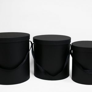 100333BLK Set of 3 Round Barrel black
