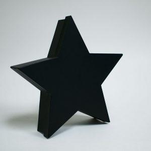 W6659 Black Star Shape Flower Box