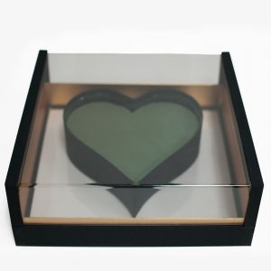 1125ABlk Acrylic Black Photo Frame Flower Box