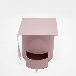 W7957PK Pink Graduation Cap with Drawer