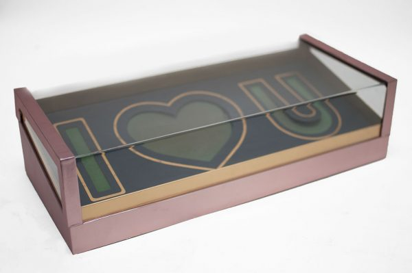 Pink Acrylic I Love You Flower Box