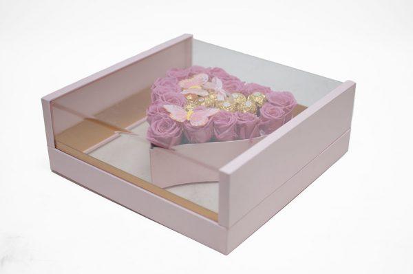 1125APnk Acrylic Pink Photo Frame Flower Box