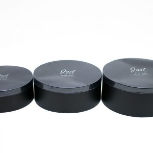 W7179 Black Round Shape Shape Set of 3 Flower Boxes