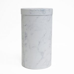 W7366 White Marble Round 3 Tiers Triple Layer Flower Box