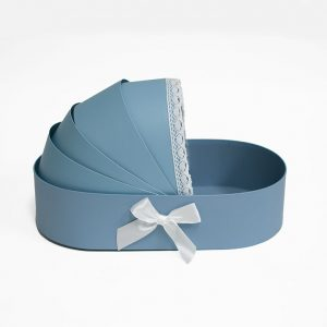W9298 Blue Baby Bassinet Flower Box