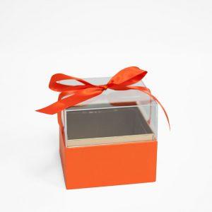 1131Aorange Mini Orange Acrylic Square Flower Box