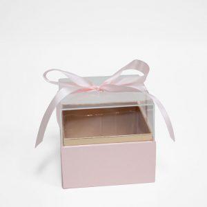 1131Apink Mini Pink Acrylic Square Flower Box