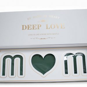 White Rectangular Love Mom Flower Box With Liners and Foams
