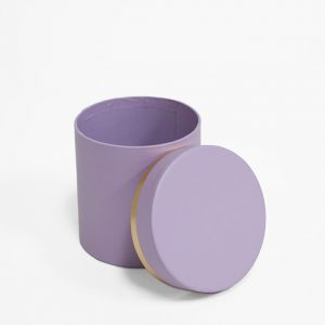 W7319ppl Mini Round Shape Flower Box Purple