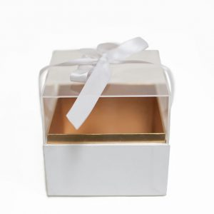 1131Awhite Mini Acrylic Square Flower Box