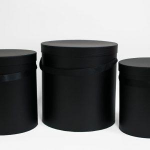 W5637 Set of 3 Round Barrel black