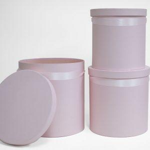 100333pink Set of 3 Round Barrel Pink