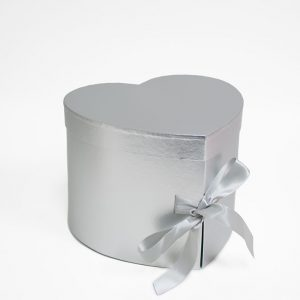 W7492 Silver Heart Shape Flower Box (Two-Layers)