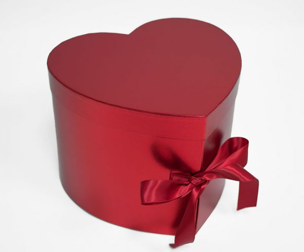 W7493 Red Heart Shape Flower Box (Two-Layers)