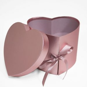 W7494 Rose Gold Heart Shape Flower Box (Two-Layers)
