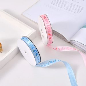 213027 Baby Girl Or Baby Boy Ribbons 1.5 cm By 20 Yards