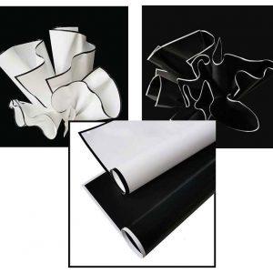 Plastic Black And White Flower Wraps 20 pcs Per Bag