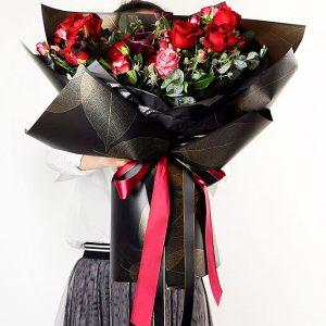 Plastic Leafage Flower Wraps 20 pcs Per Bag