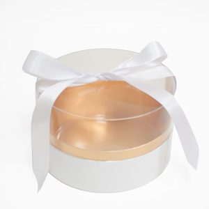 100337 White Acrylic Round Box