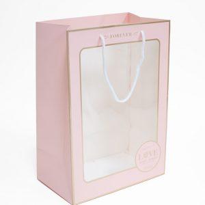 Pink Rectangular Window Bag