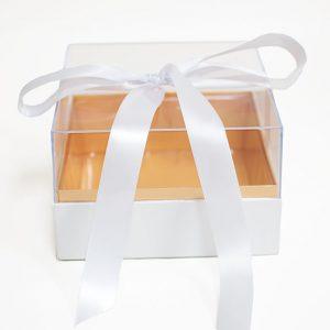 1132A White Acrylic Square Flower Box