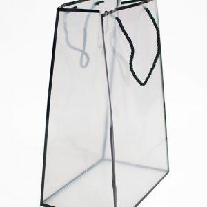 Black Transparent Bag with Frame
