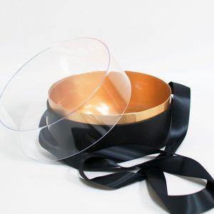 100337 Black Acrylic Round Box