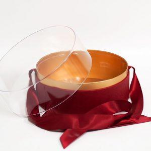 100337 Red Acrylic Round Box