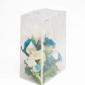 White Transparent Bag with Frame