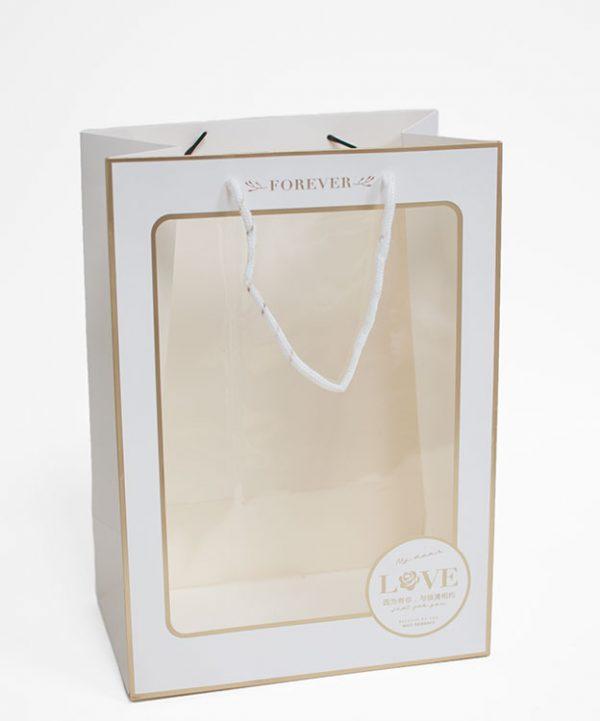 White Rectangular Window Bag