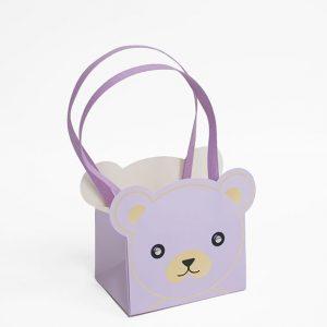 8161 Violet Bear Bag